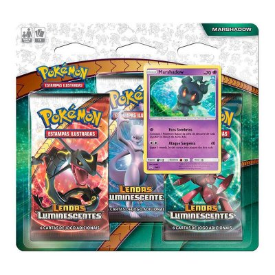 Pokémon TCG: Triple Pack SM3.5 Lendas Luminescentes - Marshadow