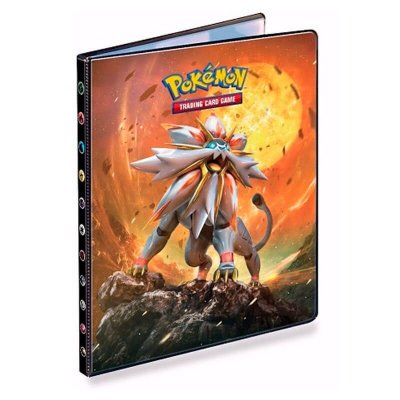 Pokémon TCG: Pasta para Cartas Oficial Ultra PRO - SM1 Solgaleo e Lunala