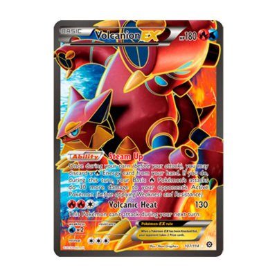 Pokémon TCG: Volcanion EX (107/114) - XY11 Cerco de Vapor