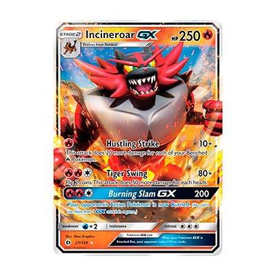 Pokémon TCG: Incineroar GX (27/149) - SM1 Sol e Lua