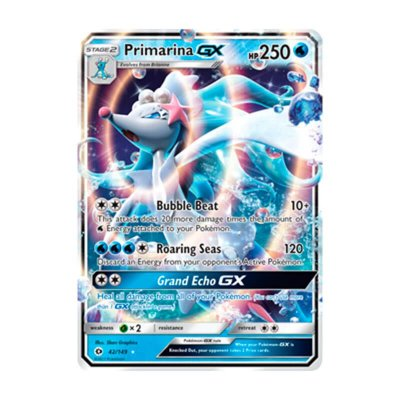 Pokémon TCG: Primarina GX (42/149) - SM1 Sol e Lua