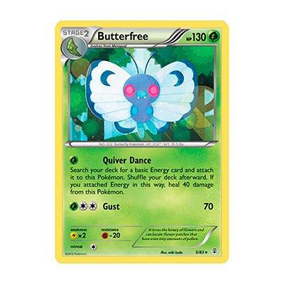 Pokémon TCG: Butterfree (5/83) - Gerações