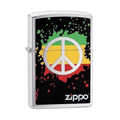 Isqueiro Zippo 29606 Classic Respingo de Paz Escovado