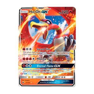 Pokémon TCG: Ho-Oh GX (21/147) - SM3 Sombras Ardentes