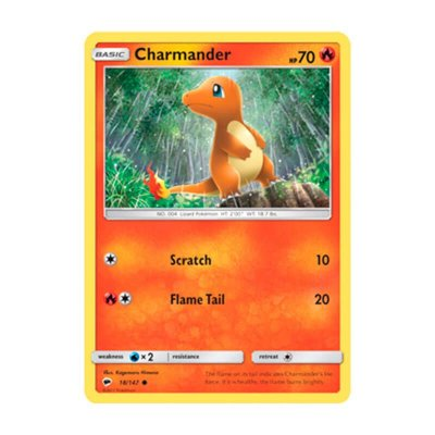 Pokémon TCG: Charmander (18/147) - SM3 Sombras Ardentes