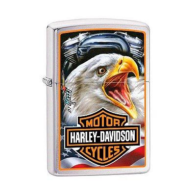 Isqueiro Zippo 29499 Classic Harley-Davidson® ~ Mazzi Escovado