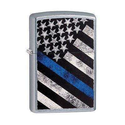 Isqueiro Zippo 29551 Classic Blue Line Flag Street
