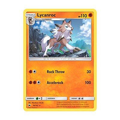 Pokémon TCG: Lycanroc (76/147) - SM3 Sombras Ardentes