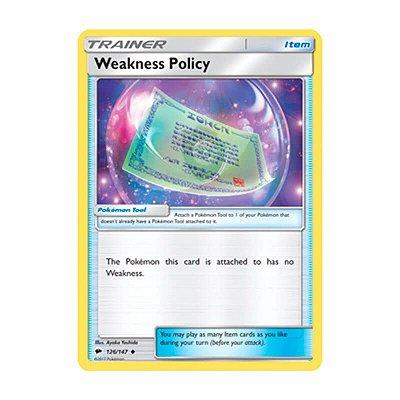 Pokémon TCG: Política de Fraqueza (126/147) - SM3 Sombras Ardentes