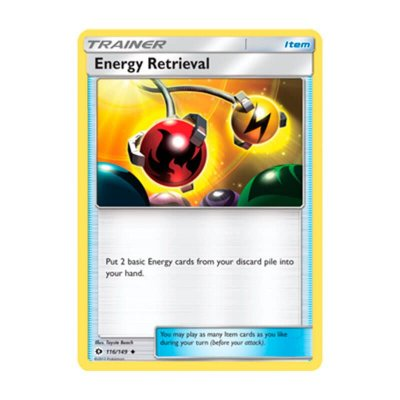 Pokémon TCG: Recuperação de Energia (116/149) - SM1 Sol e Lua