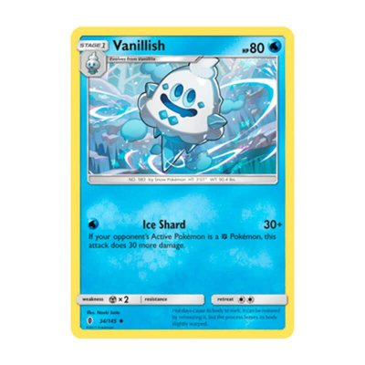 Pokémon TCG: Vanillish (34/145) - SM2 Guardiões Ascendentes