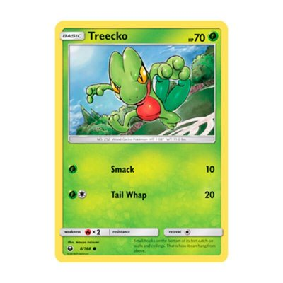 Pokémon TCG: Treecko (8/168) - SM7 Tempestade Celestial