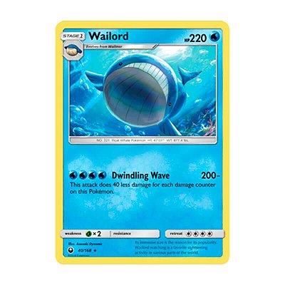 Pokémon TCG: Wailord (40/168) - SM7 Tempestade Celestial