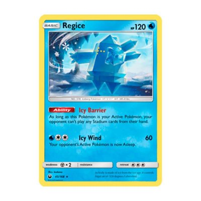 Pokémon TCG: Regice (45/168) - SM7 Tempestade Celestial