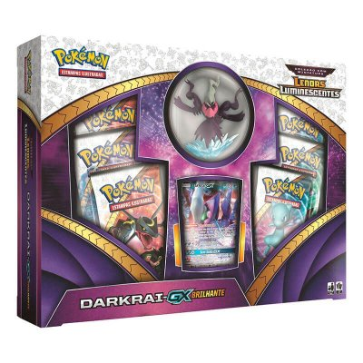Pokémon TCG: Box Coleção com Miniatura SM3.5 Lendas Luminescentes - Darkrai-GX Brilhante