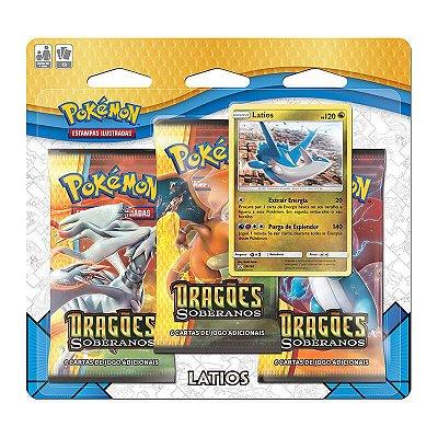 Pokémon TCG: Triple Pack SM7.5 Dragões Soberanos - Latios