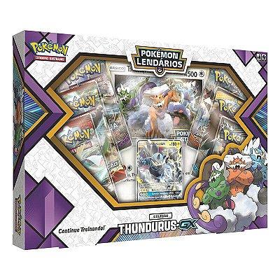 Pokémon TCG: Box Pokémon Lendários Forças da Natureza - Thundurus-GX