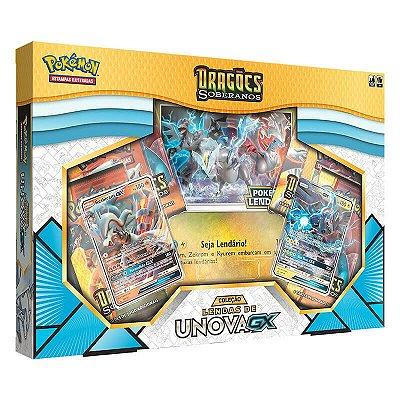 Pokémon TCG: Box Coleção Lendas de Unova GX SM7.5 Dragões Soberanos