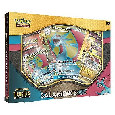 Pokémon TCG: Box Salamence-GX SM7.5 Dragões Soberanos