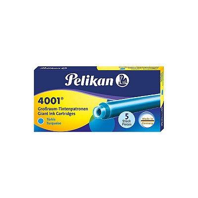 Cartucho de Tinta Grande Pelikan 4001 Turquesa (5 unidades)