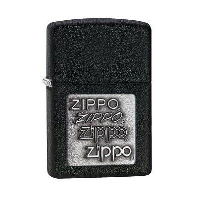 Isqueiro Zippo 363 Classic Craquelado com Emblema Prateado
