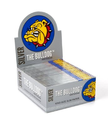 Caixa 50 Papel Seda Silver King Size The Bulldog - SM00052