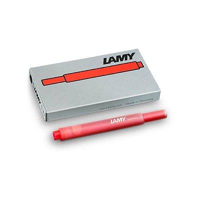 Cartucho de Tinta LAMY T10 Vermelho (5 unidades)