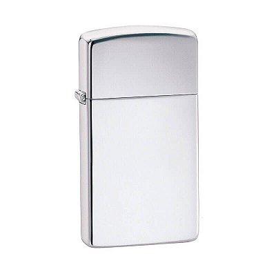 Isqueiro Zippo 1610 Slim Cromo Polido