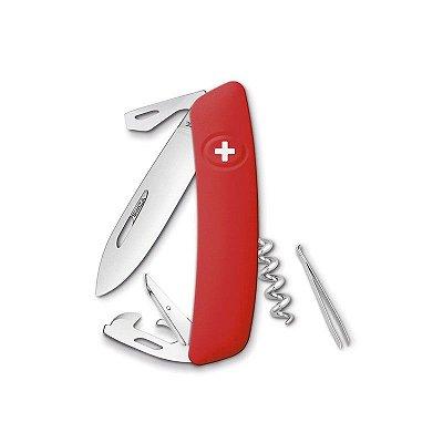 Canivete Suíço D03 Vermelho Swiza com Bag Premium
