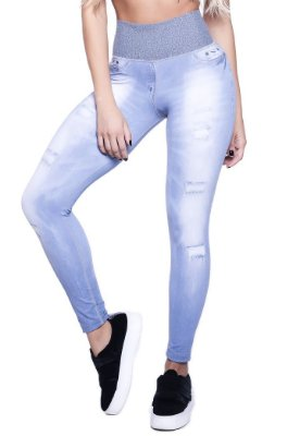 LIPSOUL GIRLS LEGGING IMITA JEANS 4332