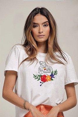 T-Shirt Bordada Nossa Senhora - LOTTUS