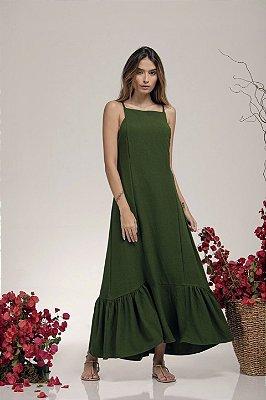 Vestido Midi Verde P - LOTTUS