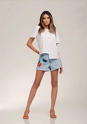 T-Shirt Recorte Off White - LOTTUS