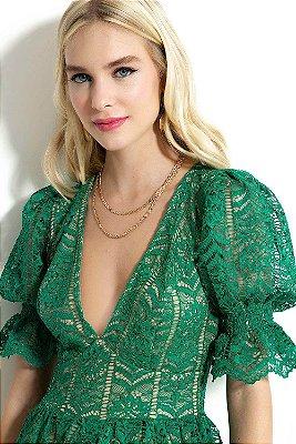 Vestido Granado Esmeralda Verde