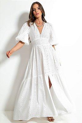 Vestido Longo Laise Off White