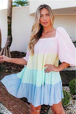 Vestido Serafina Color - AVE RARA