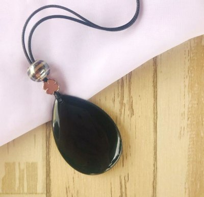 Colar Longo - Pedra Onix