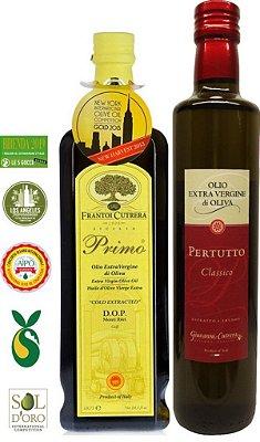 Pack 20% OFF - 1 Azeite Frantoi Cutrera Primo DOP 500ml + 1 Azeite Cutrera Pertutto 500 ml