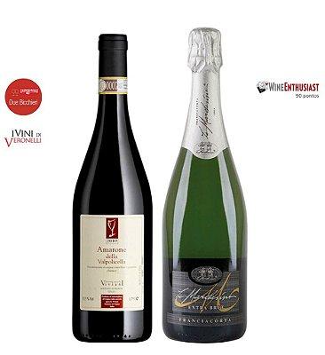 Pack 20% OFF -1 Amarone Della Valpolicella Classico D.O.C.G. + 1 Franciacorta Extra Brut DOCG