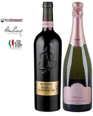 Pack 20% OFF - 1 Brunello di Montalcino D.O.C.G. + 1 Opera VSQ Rose Brut Método Clássico
