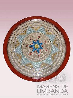 Mandala Estrela - Diâmetro 47 cm