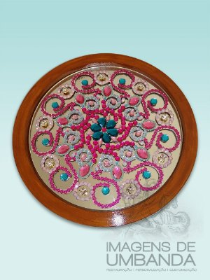 Mandala em Pedraria Artificial - 39 cm
