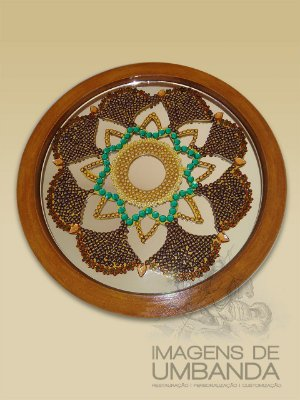Mandala em Pedraria Artificial II - 39 cm