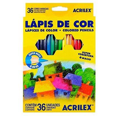 LAPIS DE COR 36 CORES ACRILEX