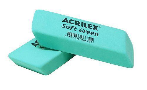 BORRACHA SOFT GREEN - ACRILEX