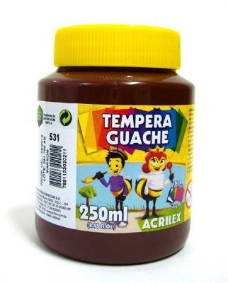 Tinta Guache Marrom 250 ml - Acrilex