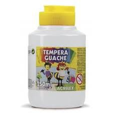 Tinta Guache Branco 250 ml - Acrilex