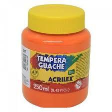 Tinta Guache Laranja 250 ml - Acrilex