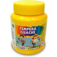 Tinta Guache Amarelo 250 ml - Acrilex