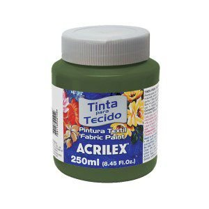 Tinta Tecido Fosca 250ml Verde Oliva - Acrilex